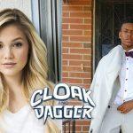 Olivia Holt en Aubrey Joseph in Marvel's Cloak and Dagger
