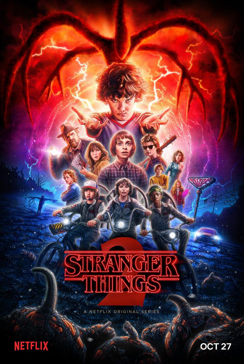 Officiële Stranger Things seizoen 2 poster