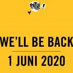 Pathé opent bioscopen 1 juni met protocol en diverse filmprogrammering