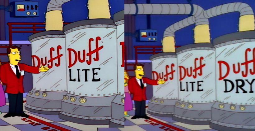 The Simpsons Duff Beer - Film remasters