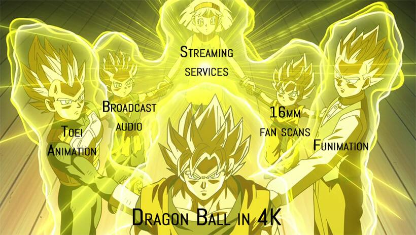 Dragon Ball in 4K - Super Saiyan God ritual